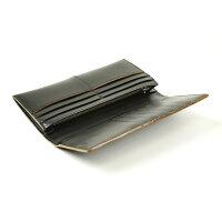 枯淡(コタン):ファスナーポケット付ガラス加工レザー長財布[3698]