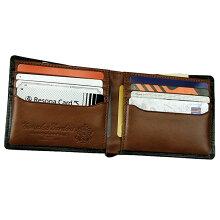坐臥(ザガ):カード入れ付二つ折り財布[3525]