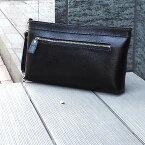 [青木鞄] バルボス:クラッチ両用2wayセカンドバッグ S[4307] 【送料無料】 Lugard BALBOS *日本製 牛革 エンボスレザー クラッチバッグ 鞄 メンズ ブラック*