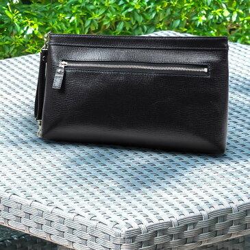[青木鞄] バルボス:クラッチ両用2wayセカンドバッグ M[4308] 【送料無料】 Lugard BALBOS *日本製 牛革 エンボスレザー クラッチバッグ 鞄 メンズ ブラック* 【ラッキーシール対応】