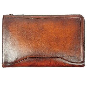[青木鞄] G-3(ジースリー):二方ファスナーセカンドバッグ[5225] 【送料無料】 Lugard G3 *日本製 牛革 セカンドバッグ クラッチバッグ 鞄 メンズ ブラウン ネイビー* 【ラッキーシール対応】