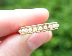 シードパール・リング・ゴールド・指輪