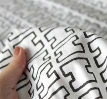 北欧カーテンアルテックArtekH55グレーオーダーカーテン北欧ブランドカーテン幾何学キッチンHパターン手書きモダンコットンフィンランドおしゃれかわいいモノトーン
