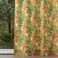 ムーミンMOOMINカーテン北欧鈴木マサル北欧ブランドカーテン植物園(ムーミン)すずきまさるオーダーかわいいおしゃれベージュ