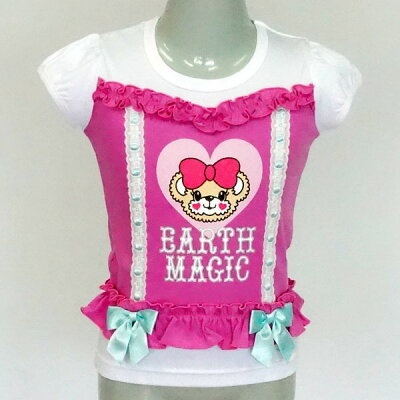 [2018春夏商品]EARTHMAGICビスチェ風Tシャツ【合計10,800円(税込)以上お買い上げで送料無料】