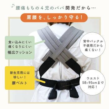 【予約販売終了しました】ZEROフリーサイズ新生児抱っこ紐日本製キューズベリーCUSEBERRY抱っこ紐メッシュブルーピンクグレージュネイビーイエローミントグリーンギフト出産祝い抱っこ紐新生児だっこひも