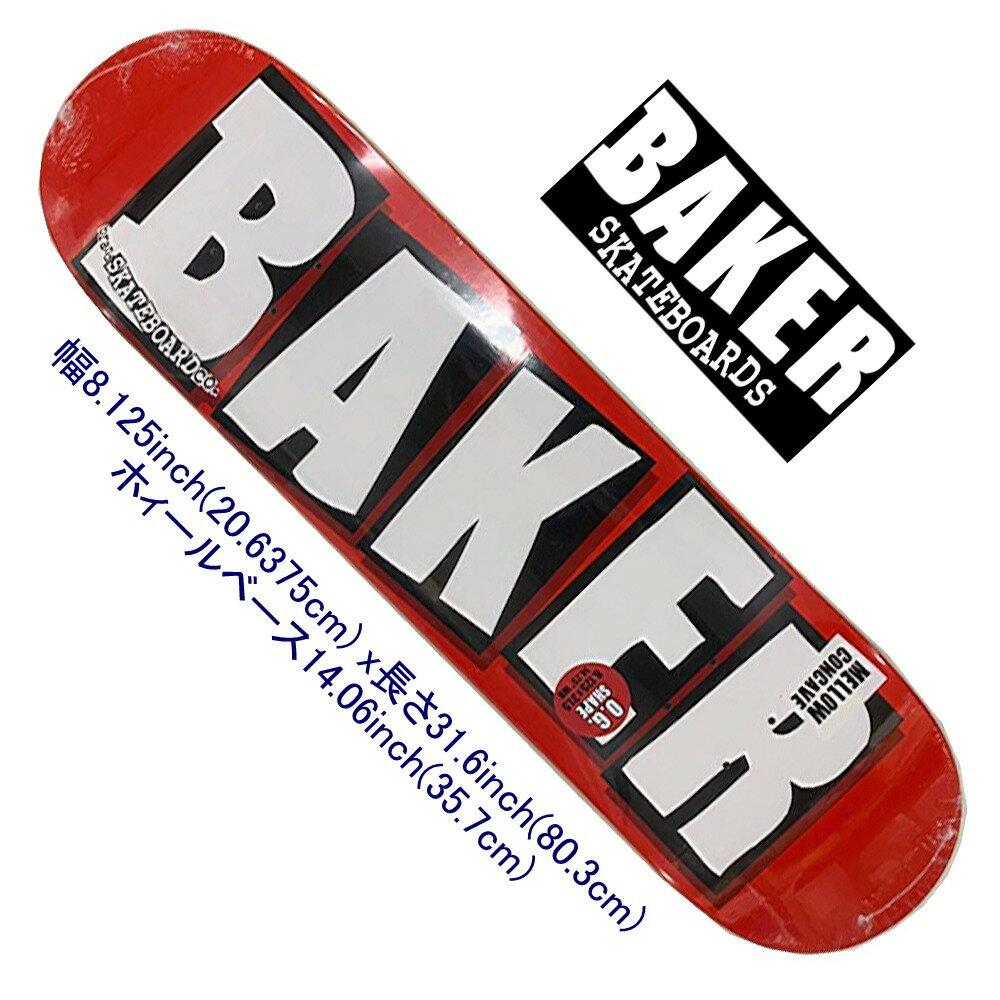 パーツ, デッキ  Baker Logo White Deck 8.125inch ANDREW REYNOLDS JIM GRECO