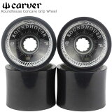 Carver Wheel カーバー 純正ウィール 4個セットRoundhouse By Carver Concave Grip Wheel 69mm 78a Smoke スモークスケートボード パーツ Wheel ソフトウィール コニカル Conical