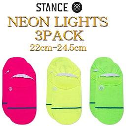 スタンス ソックス Stance Socks Neon Lights 3 Pack 靴下 ベーシック スリー パック ノー ショー 3足セット レディース S 22cm-24.5cm 女子 ファッション 小物 定番