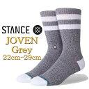 スタンス ソックスStance Socks Joven Greyジョヴェン グレー メンズ L 25.5-29.0cm レディース キッズ S 22cm−24.5cmメンズ ファッション 靴下 サーフィン