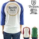BRIXTON ブリクストン ラグランスリーブ 七分袖 Tシャツ Wheeler 3/4 Slv Tee