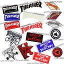 Thrasher スラッシャー ステッカー スケートボード スケボー マガジン ファイヤー ロゴ ゴートフレーム かっこいい 車 バイク おしゃれ