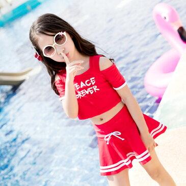 メール便送料無料 子供 女の子 みずぎ 水着 ジュニアセパレートベビー  赤ちゃん タンキニ  赤 レッド ブラックyy297z