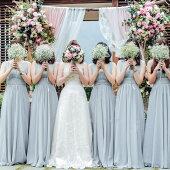 ウェディングドレスゲストドレスブライズメイドドレスお揃いドレスパーテイードレスフォーマル二次会演奏会披露宴結婚式発表会グレーロングドレスlf500h