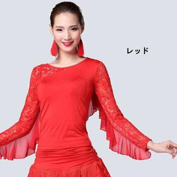 ラテンダンス衣装社交ダンス衣装トップス女性用DANCE/練習着ダンスウェア半袖コスプレイベントカジュアルステージ衣装ブルーレッドブラックローズパープルレディースlt074h