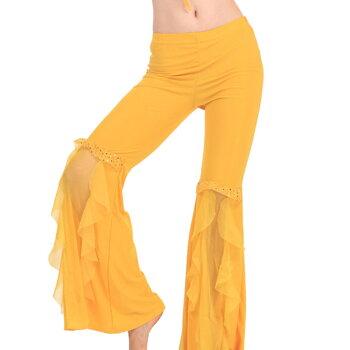 ゆうパケット送料無料ベリーダンス衣装フレアパンツベリーダンスズボンベリーダンスウェアステージ衣装ベリーダンスボトムスレッスン衣装10色入荷dp125z
