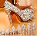 3色展開パンプスハイヒールピンヒールパーティー結婚式キャバ靴レディースシューズ珍珠つけパーティ花嫁お呼ばれおしゃれ歩き安い