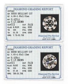 プラチナダイヤモンドピアスプラチナ・ダイヤ0.876ct(VLB・SI2・鑑定書カード付)スタッドピアス【対応】