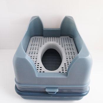 猫のトイレ用品、キャットトイレ。お手入れしやすい丸洗い可です。