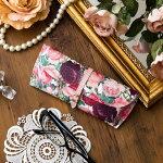 【日本製】ルドゥーテメガネケース/バラ柄薔薇ローズ赤色レッドレディースメガネケースギフト、プレゼントにもぴったり♪フランス眼鏡サングラスケースおしゃれ可愛い