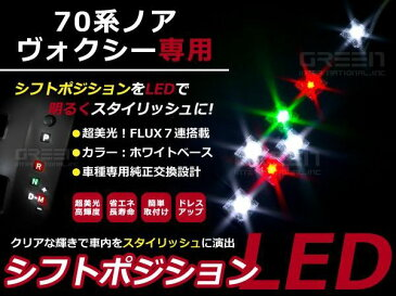 送料無料 シフトポジションLED トヨタ ヴォクシー/VOXY ノア/NOAH ZRR70系 LEDイルミネーション シフトノブ シフトゲート LEDパネル ルームランプ インテリアパネル