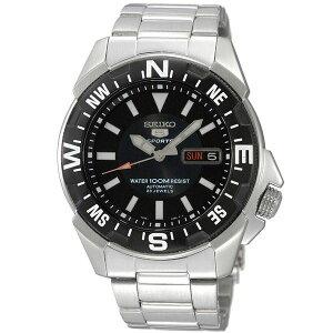 【ポイント10倍】腕時計SEIKO5SPORTS(セイコーファイブスポーツ)オートマチックデイデイト逆輸入海外モデル日本製ブラック×シルバーSNZE81JC