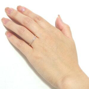 【ポイント10倍&送料無料】【鑑別書付】K18イエローゴールド天然ダイヤモンドリングダイヤ0.20ct8号ハーフエタニティリング