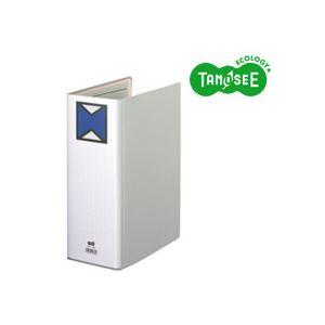 【ポイント10倍&送料無料】(まとめ)TANOSEEパイプ式ファイル片開きA4タテ100mmとじグレー10冊
