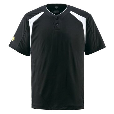 【ポイント10倍】デサント(DESCENTE) ベースボールシャツ(2ボタン) (野球) DB205 ブラック L