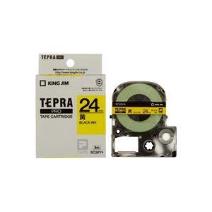 【ポイント10倍】(業務用30セット)キングジムテプラPROテープSC24Y黄に黒文字24mm【×30セット】