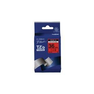 【ポイント10倍】(業務用20セット)ブラザー工業文字テープTZe-461赤に黒文字36mm【×20セット】