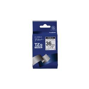 【ポイント10倍】(業務用20セット)ブラザー工業文字テープTZe-161透明に黒文字36mm【×20セット】