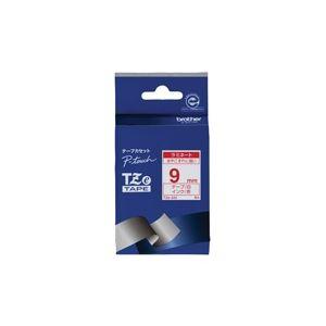 【ポイント10倍】(業務用30セット)ブラザー工業文字テープTZe-222白に赤文字9mm【×30セット】