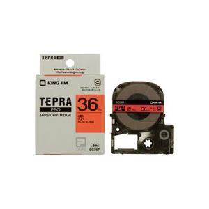 【ポイント10倍】(業務用20セット)キングジムテプラPROテープSC36R赤に黒文字36mm【×20セット】