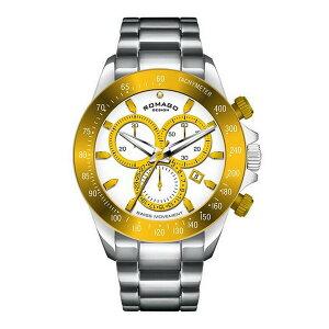 【ポイント10倍】ROMAGO腕時計UnisexRM027-0406ALゴールド/ホワイト