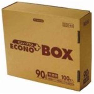 【ポイント10倍】(業務用20セット) 日本サニパック エコノプラスBOX E-94 半透明 90L 100枚:サイバーベイ