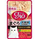 【ポイント10倍】(まとめ)CIAOパウチ 乳酸菌入り まぐろ ささみ入りかつお節味 40g (ペット用品・猫フード)【×96セット】