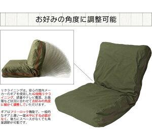 【ポイント10倍】HANPUざっくり洗いざらしの帆布ソファカーキYS-807【】