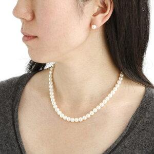 【ポイント10倍】花珠真珠(あこや真珠)パールネックレス&パールイヤリング7~7.5mm玉