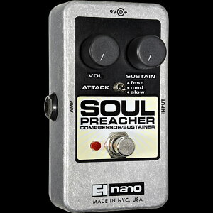【ポイント10倍】【お取り寄せ品】Electro-Harmonix(エレクトロハーモニクス)SoulPreacherソウル・プリーチャー/コンプレッサーサスティナー
