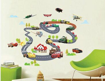 ディズニー カーズ レーサー Disney cars ウォールステッカー 貼って 剥がせる 壁紙 壁シール