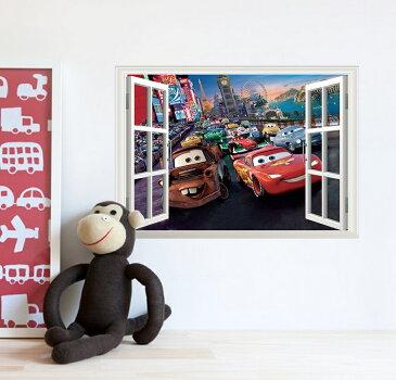 Disney Cars ディズニー カーズ ウインドタイプ ウォールステッカー インテリアシール 貼って 剥がせる 壁紙 壁シール