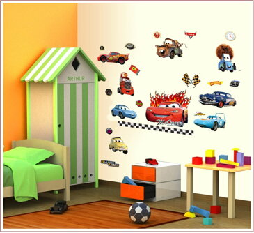 ディズニー カーズ】Disney Cars ウォールステッカー ウォール ステッカー ポスター シール 北欧 激安 貼って はがせる 壁紙 壁シール 子供部屋【CG】