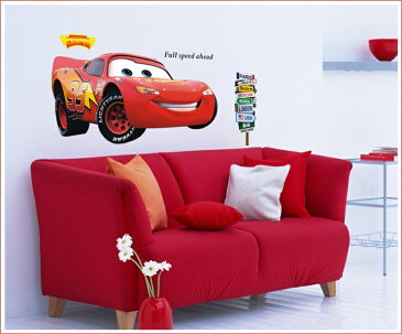 Disney Cars LIGHTNINGMcQUEEN ディズニー カーズ ライトニングマックイーン 大きいサイズ ウォールステッカー 貼って 剥がせる 壁紙 壁シール 子供部屋 車
