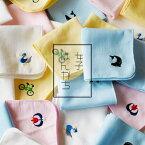 ガーゼハンカチ 1枚 ミニハンカチ 女子はんかち 日本製 薄手 (宅配) タオルハンカチ 保育園 幼稚園 キッズ 子供 泉州タオル