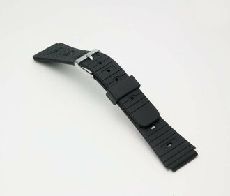 Watch watch band BG060A Bambi / sport type urethane belt (thin type): Watch belt / black 18 mm fs3gm