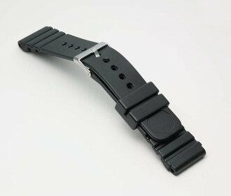 Urethane belt (thickness type) clock belt black 22mm for clock belt clock band BG079A Bambi divers