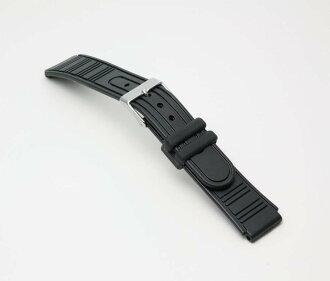 Clock belt clock band BG094A Bambi sports type urethane belt (thin) clock belt black 16mm fs3gm