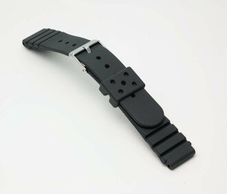 Watch watch band BG422A Bambi for divers urethane belt (thick type) Watch belt black 18 mm