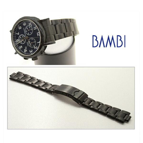 94ef84ff83 時計 ベルト 時計ベルト 腕時計ベルト 時計バンド 時計 バンド 腕時計バンド バンビ メタル 金属 メンズ ブラック BSB4553B 18mm  19mm 20mm 22mm